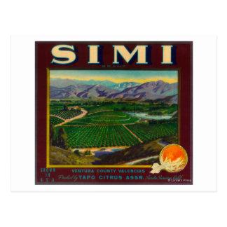 Simi Orange LabelSanta Susana, CA Postcard
