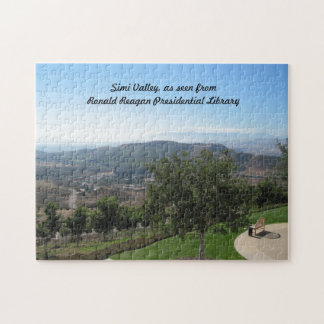 Simi Valley  as seen from Reagan Library Jigsaw Puzzle