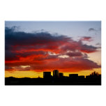 simi valley california sunset poster