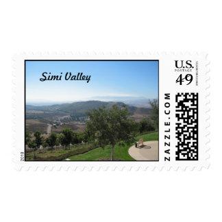 Simi Valley según lo visto de la biblioteca de Timbres Postales