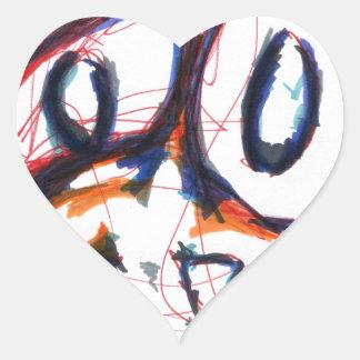 Simian en cuestión pegatina en forma de corazón