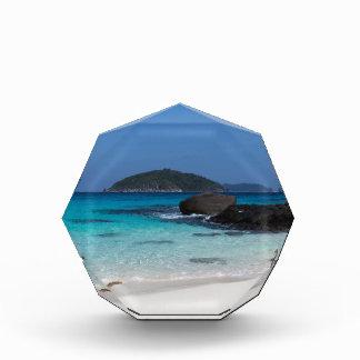 Similan White sand beach and turquoise blue sea Award