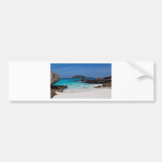 Similan White sand beach and turquoise blue sea Bumper Sticker