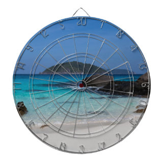 Similan White sand beach and turquoise blue sea Dart Board
