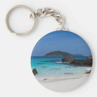 Similan White sand beach and turquoise blue sea Keychain