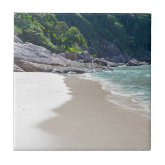 Similan White sand beach and turquoise blue sea Tile