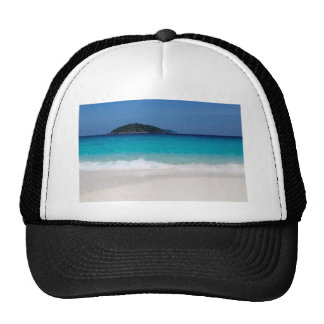 Similan White sand beach and turquoise blue sea Trucker Hat