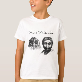 Similarity Owl and Man Vintage Funny Friends T-Shirt