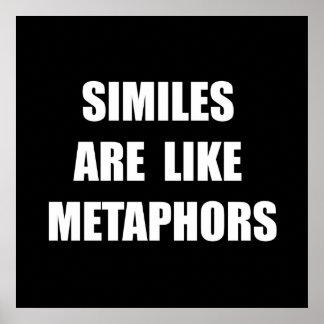Similes Metaphors Poster
