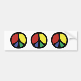 Simle Colourful Flowing Peace Sign Bumper Sticker