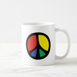 Simle Colourful Flowing Peace Sign Mug