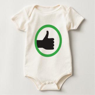 simle ligke sign baby bodysuit