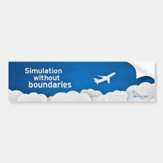 simMarket Paper Sky 1 Bumper Stickers