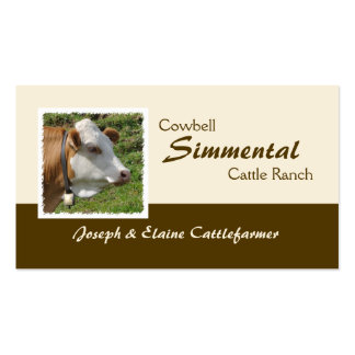 Simmental beef and dairy business card