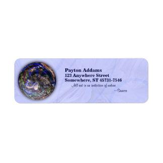 Simmer Mandala - Return Address Avery Label