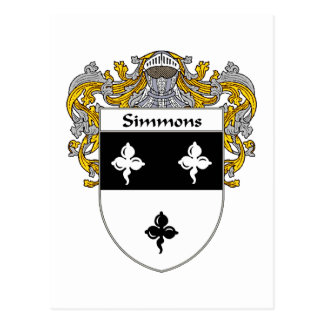 Simmons Coat of Arms (Mantled) Postcard