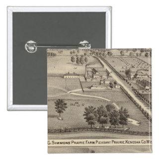Simmon's Prairie Farm, Kenosha Water Cure Pin
