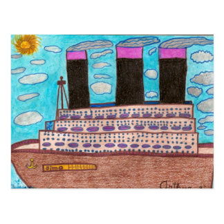 Simo Go Around Ship Postcard