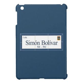 Simon Bolivar, placa de calle, Sucre, Bolivia