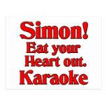 ¡Simon! Coma su corazón hacia fuera. Karaoke Tarjetas Postales