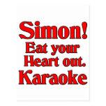 ¡Simon! Coma su corazón hacia fuera. Karaoke Postal