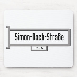 Simon-Dach-Strasse, Berlin Street Sign Mouse Pad