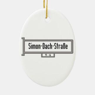 Simon-Dach-Strasse, placa de calle de Berlín Adorno Ovalado De Cerámica