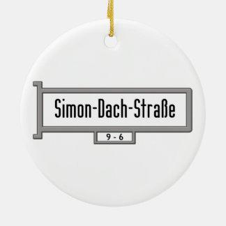 Simon-Dach-Strasse, placa de calle de Berlín Adorno Redondo De Cerámica