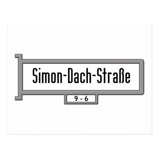 Simon-Dach-Strasse, placa de calle de Berlín Postal