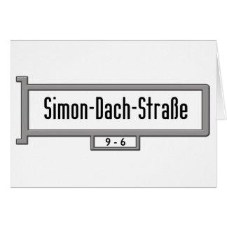 Simon-Dach-Strasse placa de calle de Berlín Felicitaciones