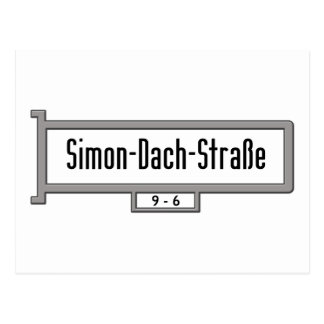 Simon-Dach-Strasse, placa de calle de Berlín Tarjetas Postales