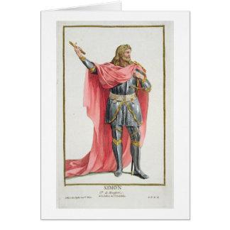 Simon de Montfort (c.1165-1218) from 'Receuil des Card