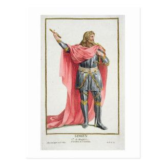 Simon de Montfort (c.1165-1218) from 'Receuil des Postcards