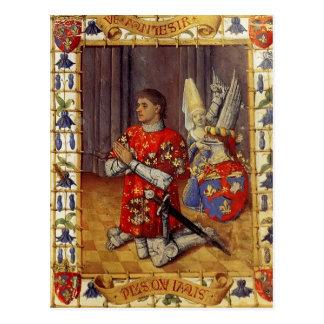 Simon De Varie Kneeling In Prayer by Jean Fouquet Post Card