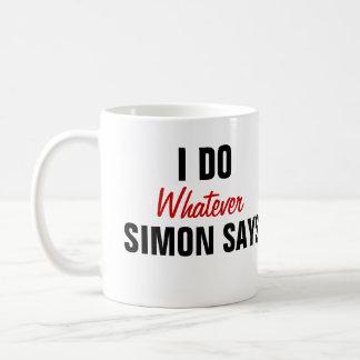 Simon dice taza de café