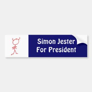 Simon Jester For President Bumper Sticker
