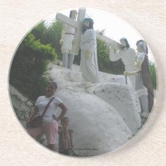 Simon of Cyrene carries the cross Drink Coaster