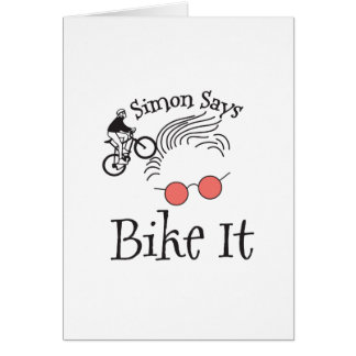 Simon Says bike it Card