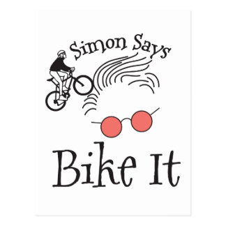 Simon Says bike it Postcard