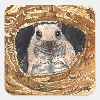 Simon The Squirrel Square Sticker