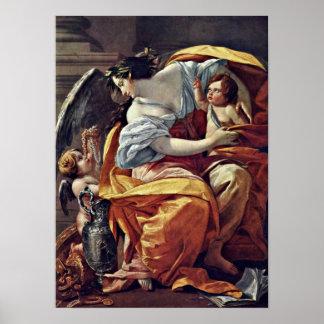 Simon Vouet - alegoría de la riqueza Impresiones