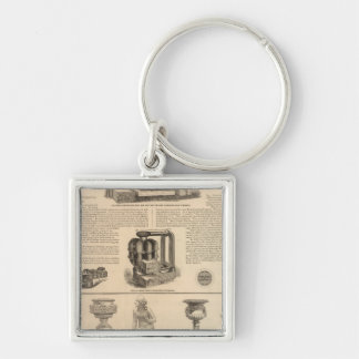 Simonds Manufacturing Company Stewart Silver-Colored Square Keychain