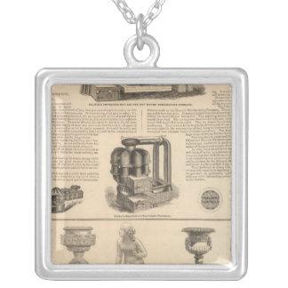 Simonds Manufacturing Company Stewart Square Pendant Necklace