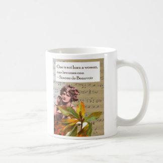 Simone de Beauvoir Quote Collage Mug