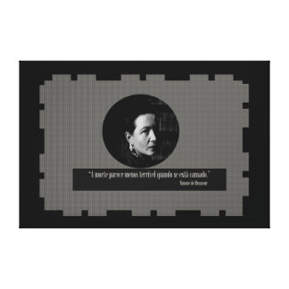 Simone de Beauvoir - sentences Canvas Print