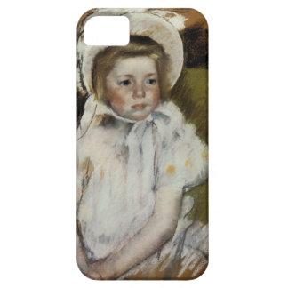 Simone en un capo blanco iPhone 5 Case-Mate cobertura