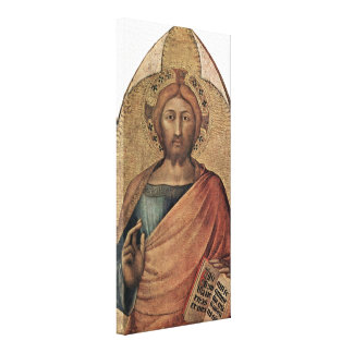 Simone Martini - Christ blessing Canvas Print