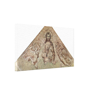 Simone Martini - Christ Pantocrator with Angels Gallery Wrap Canvas