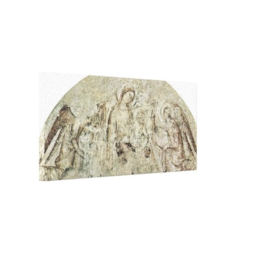 Simone Martini - Madonna con ángeles Lona Envuelta Para Galerias