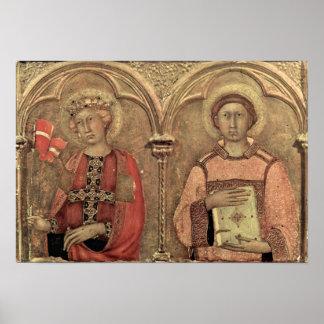 Simone Martini - Santa Ursula y St Vavrinec Impresiones